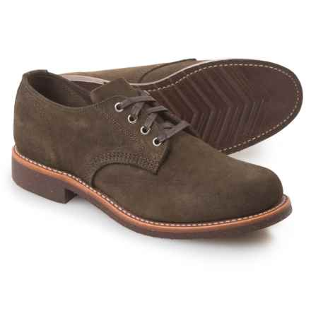 Chippewa General Utility Service Oxford Shoes - Suede (For Men) in Chocolate Moss - Closeouts