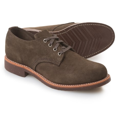 Chippewa General Utility Service Oxford Shoes - Suede (For Men) in Chocolate Moss