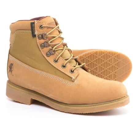 """Chippewa Gunnison Work Boots- Waterproof, Insulated, 6"""" (For Men) in Golden Nubuc - 2nds"""
