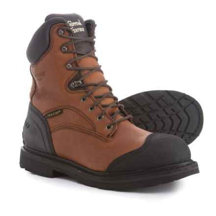 Chippewa Heavy-Duty Oiled Work Boots - Waterproof (For Men) in Brown - Closeouts
