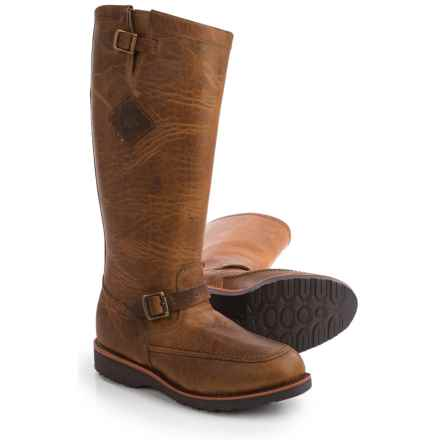 """Chippewa Iowa American Bison Snake Boots - 17"""" (For Men) in Tan - Closeouts"""