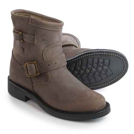 "Chippewa Leather Engineer Boots - 7"" (For Women) in Grey - 2nds"