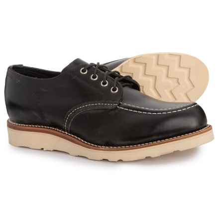 Chippewa Leather Moc Toe Oxford Shoes (For Men) in Black