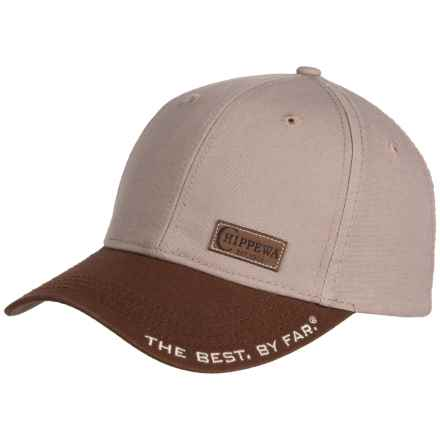 25d2ae7070fa4 Chippewa Leather Patch Baseball Cap - Canvas (For Men) in Tan - Closeouts