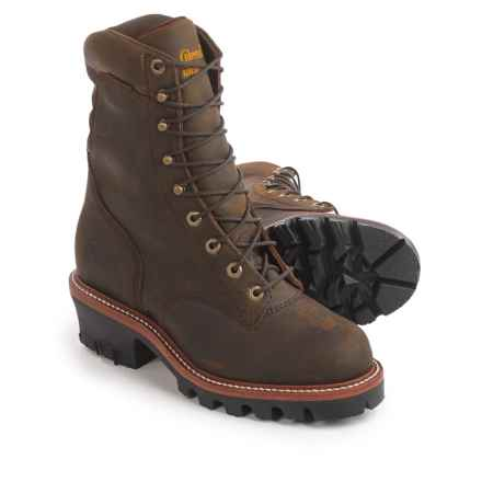 "Chippewa Logger Leather Work Boots - Waterproof, 9"" (For Men) in Brown - 2nds"