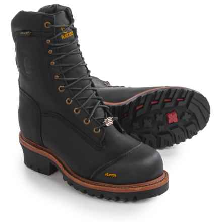 """Chippewa Logger Work Boots - Composite Safety Toe, Waterproof, Insulated, 9"""" (For Men) in Black - 2nds"""