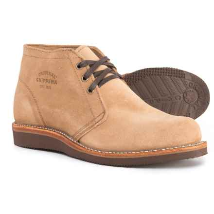 Chippewa Milford Chukka Boots - Suede (For Men) in Khaki - Closeouts