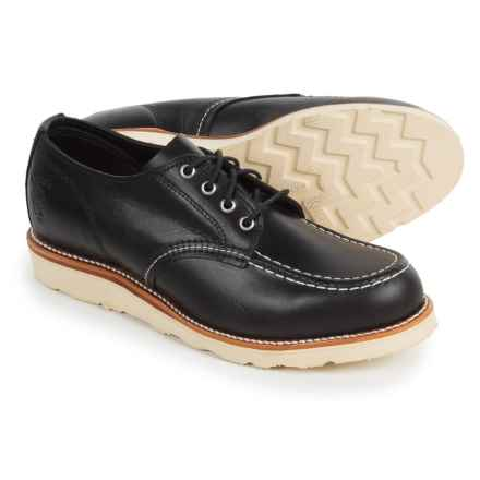 Chippewa Moc-Toe Oxford Shoes - Leather (For Men) in Black - Closeouts