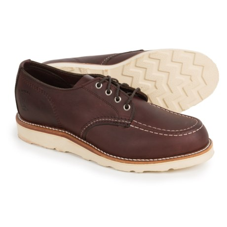 Chippewa Moc-Toe Oxford Shoes - Leather (For Men) in Cordovan
