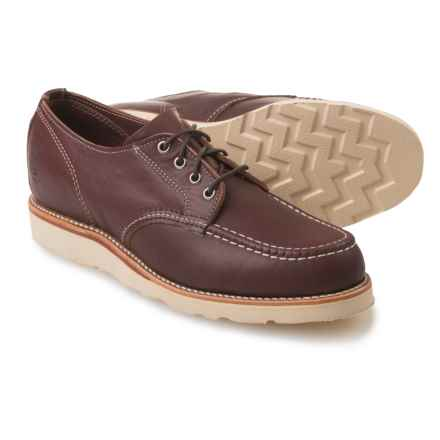 Chippewa Moc-Toe Oxford Shoes - Leather (For Men) in Red Brown Rodeo - Closeouts