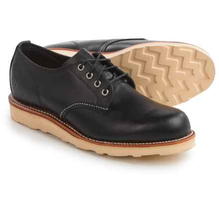Chippewa Odessa Plain-Toe Oxford Shoes - Leather (For Men) in Black - Closeouts