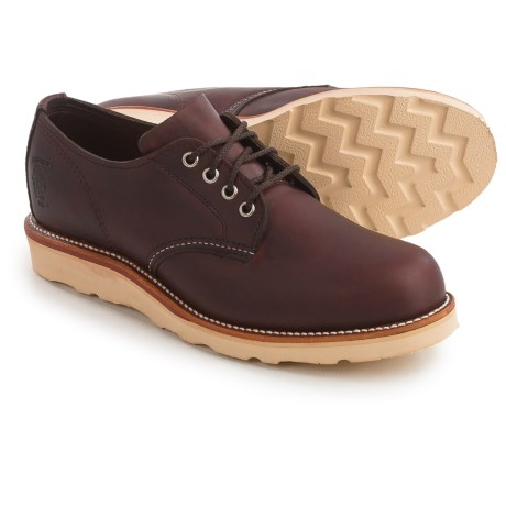 Chippewa Odessa Plain-Toe Oxford Shoes - Leather (For Men) in Cordovan