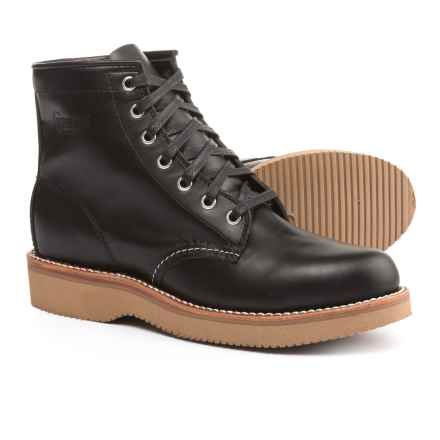 "Chippewa Plain-Toe Lace-Up Boots - Leather, 6"" (For Women) in Black Whirl Wind - 2nds"