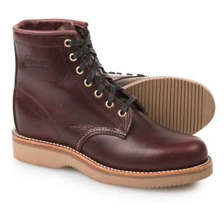"Chippewa Plain-Toe Lace-Up Boots - Leather, 6"" (For Women) in Wine - 2nds"