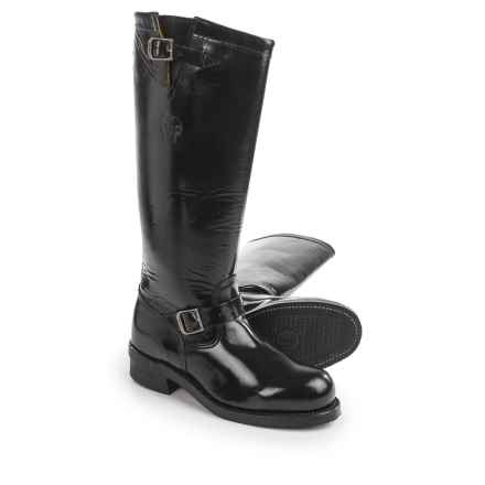 "Chippewa Polishable Motorcycle Trooper Boots- Leather, Steel Toe, 17"" (For Men) in Black - 2nds"