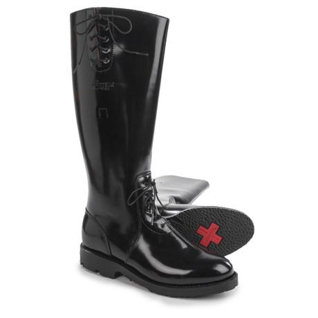 """Chippewa Polishable Motorcycle Trooper Lace Boots - Leather, 17"""" (For Men) in Black"""