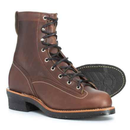 "Chippewa Reinhold Leather Boots - 8"" (For Men) in Chocolate - Closeouts"