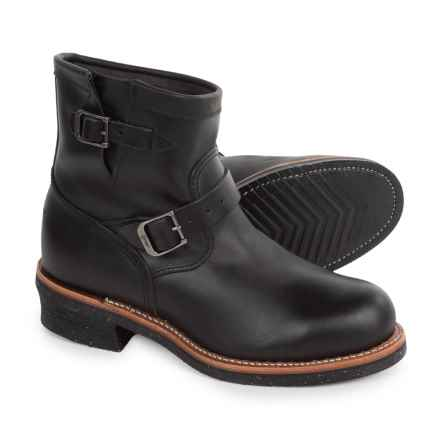 Chippewa Renegade Engineer Work Boots - Steel Safety Toe, Leather For Men) in Black - 2nds