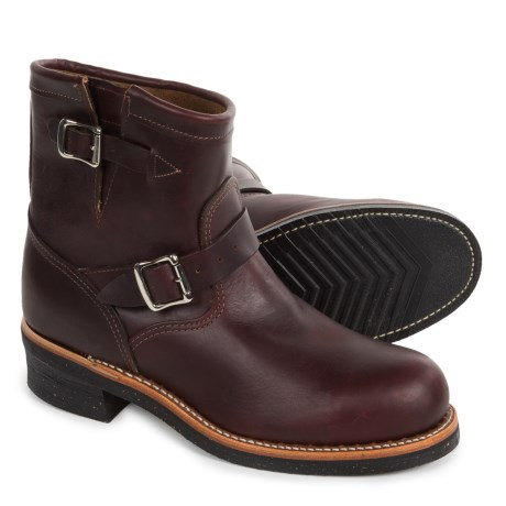 Chippewa Renegade Engineer Work Boots - Steel Safety Toe, Leather For Men) in Cordovan
