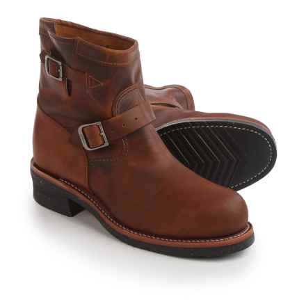 Chippewa Renegade Engineer Work Boots - Steel Safety Toe, Leather For Men) in Tan - 2nds
