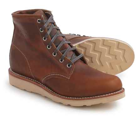 """Chippewa Renegade General Utility Wedge Boots - Leather, Plain Toe, 6"""" (For Men) in Tan - Closeouts"""