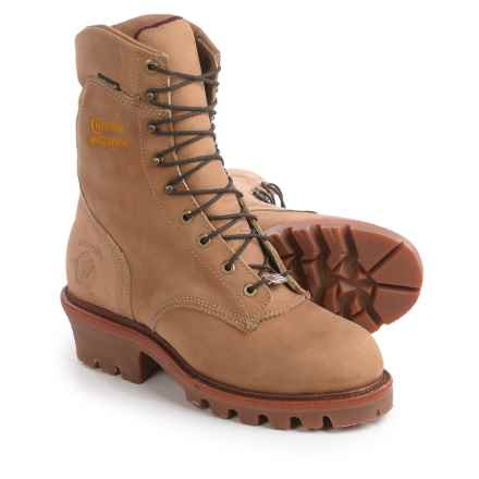 "Chippewa Rugged Logger 9"" Work Boots - Waterproof, Insulated (For Men) in Golden Beige - 2nds"