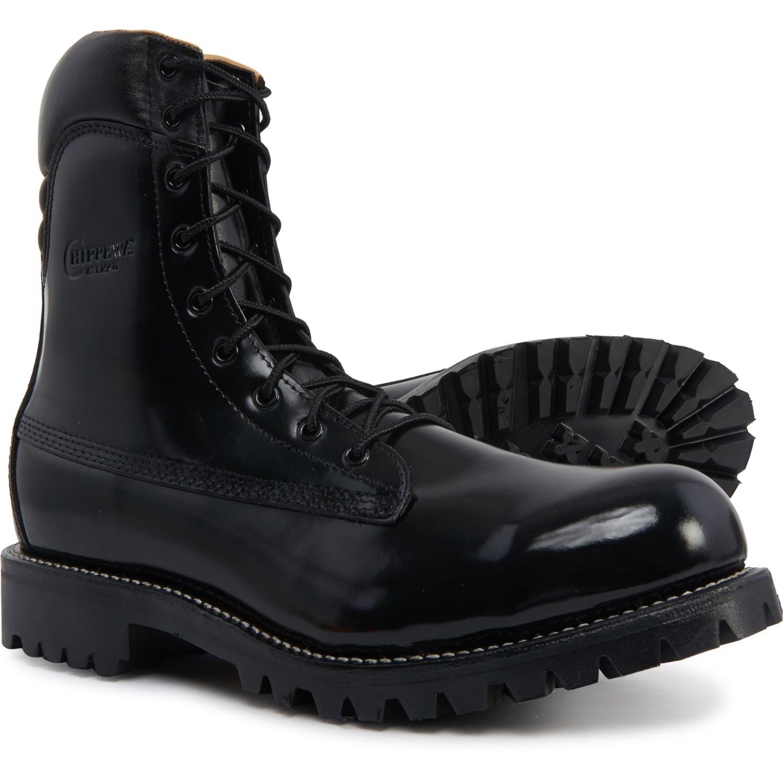 black polishable work shoes