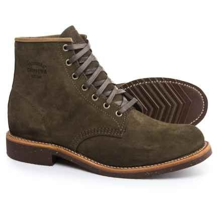 "Chippewa Service Boots - Suede, 6"" (For Men) in Chocolate - 2nds"