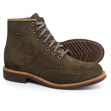 "Chippewa Service Boots - Suede, 6"" (For Men) in Chocolate"