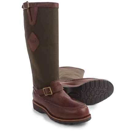 """Chippewa Snake-Proof Boots - Back Zipper, 17"""" (For Men) in Mahogany - 2nds"""