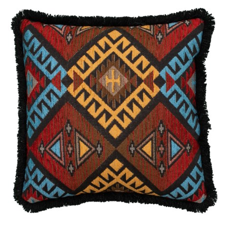 Image of Chippewa Southwest Apache-Inspired Throw Pillow - 20x20? Feathers