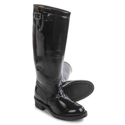 "Chippewa Strapless Trooper Boots - Leather, 17"" (For Men) in Black - 2nds"