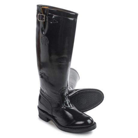 """Chippewa Strapless Trooper Boots - Leather, 17"""" (For Men) in Black"""