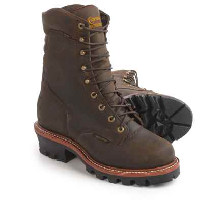 """Chippewa Super Logger 9"""" Leather Work Boots - Waterproof, Insulated (For Men) in Brown - 2nds"""