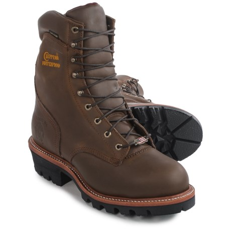 """Chippewa Super Logger 9"""" Work Boots - Steel Safety Toe, Waterproof, Insulated (For Men) in Apache"""