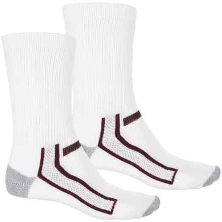 Chippewa Super Logger Socks - 2-Pack, Crew (For Men) in White/Maroon - Closeouts