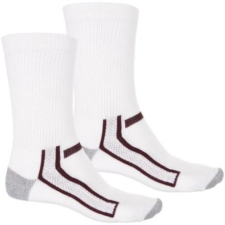 Chippewa Super Logger Socks - 2-Pack, Crew (For Men) in White/Maroon