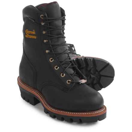 "Chippewa Super Logger Steel Toe Work Boots - Waterproof, Insulated, 9"" (For Men) in Black - 2nds"