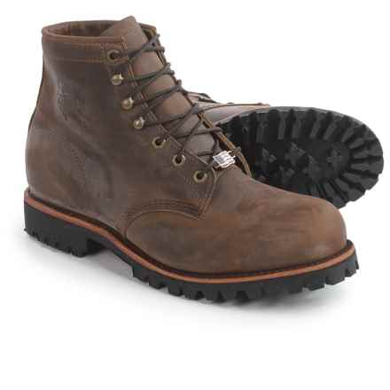 """Chippewa Tommen Steel Toe Work Boots - Leather, 6"""" (For Men) in Chocolate - 2nds"""