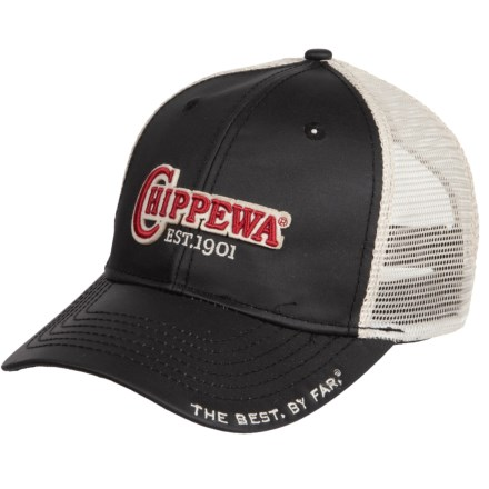 Chippewa Trucker Hat (For Men) in Black Red - Closeouts cbe9b629393e