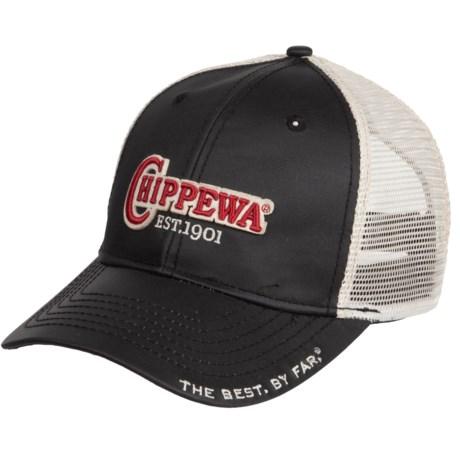 Chippewa Trucker Hat (For Men) in Black/Red