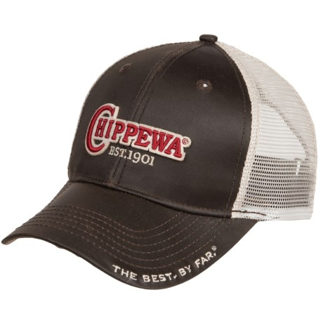 Chippewa Trucker Hat (For Men) in Grey/Red