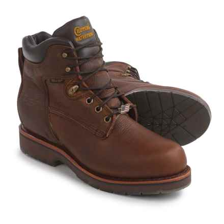 """Chippewa Utility Rugged Outdoor Boots - Waterproof, Leather, 6"""" (For Men) in Tan - 2nds"""