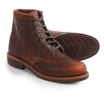"""Chippewa Utility Service Lace-Up Boots - Leather, 6"""" (For Men) in Tan - 2nds"""