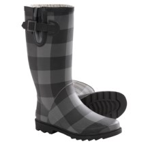 Chooka Buffalo Bone Rain Boots - Waterproof, Rubber (For Women) in Charcoal - Closeouts