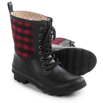 Chooka Cara Plaid Rain Boots - Waterproof (For Women) in Red - Closeouts