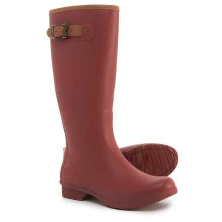 Chooka City Solid Tall Rain Boots (For Women) in Red - Closeouts