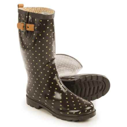 Chooka Classic Dot Rain Boots - Waterproof (For Women) in Espresso - Closeouts