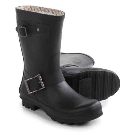 Chooka Classic Mid Cafe Racer Rain Boots - Waterproof (For Women) in Black - Closeouts