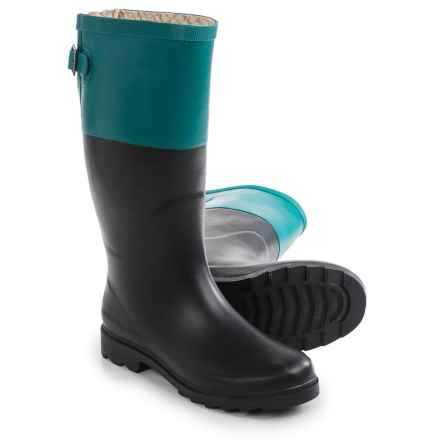Chooka Color-Block Back Gusset Rain Boots - Waterproof (For Women) in Forest - Closeouts